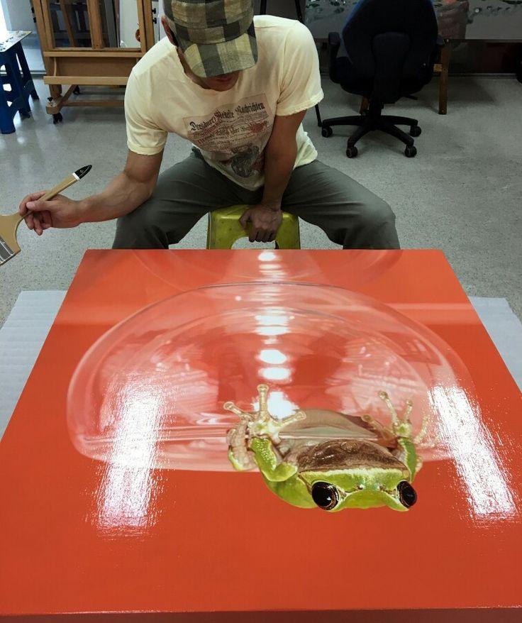 Final Progress^^ #김영성 #극사실 #하이퍼리얼리즘 #유화 #극사실주의 #개구리 #달팽이 #현대미술 #YoungsungKim #ykim #Hyperrealism #hyperrealistic #oil #painting #drawing #contemporary #art #handpainted #environment #frog #snail #insect #goldfish #animal #sculpture #museum #artgallery #redseagallery #brisbane #australia