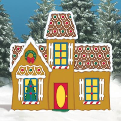 Holiday woodworking plans for fun yard decor the o 39 jays for Gingerbread house outdoor decorations