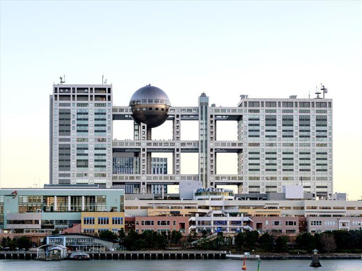 Modern mimari-harikalar Fuji Televizyon Binası, Tokyo, Japonya