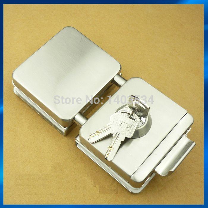 Двойное стекло двери с ключами ( одним из ключевых отверстие и поворотом ручки ), Стекло фиксатор замка, Ворота защелки