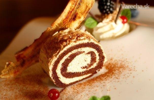 Kakaovo-gaštanová roláda