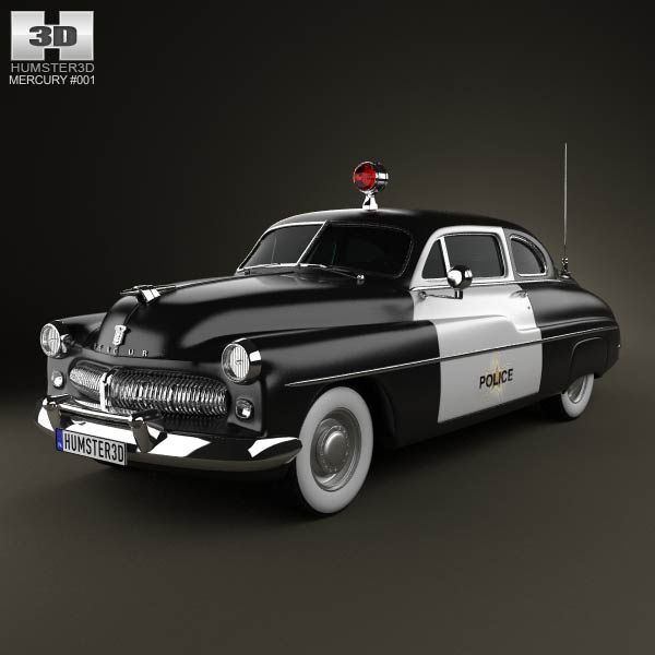 Mercury Eight Coupe Police 1949 3d Model From Humster3d
