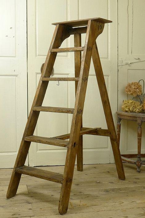 アンティーク ステップラダー(ウッド) French Vintage Step Ladder