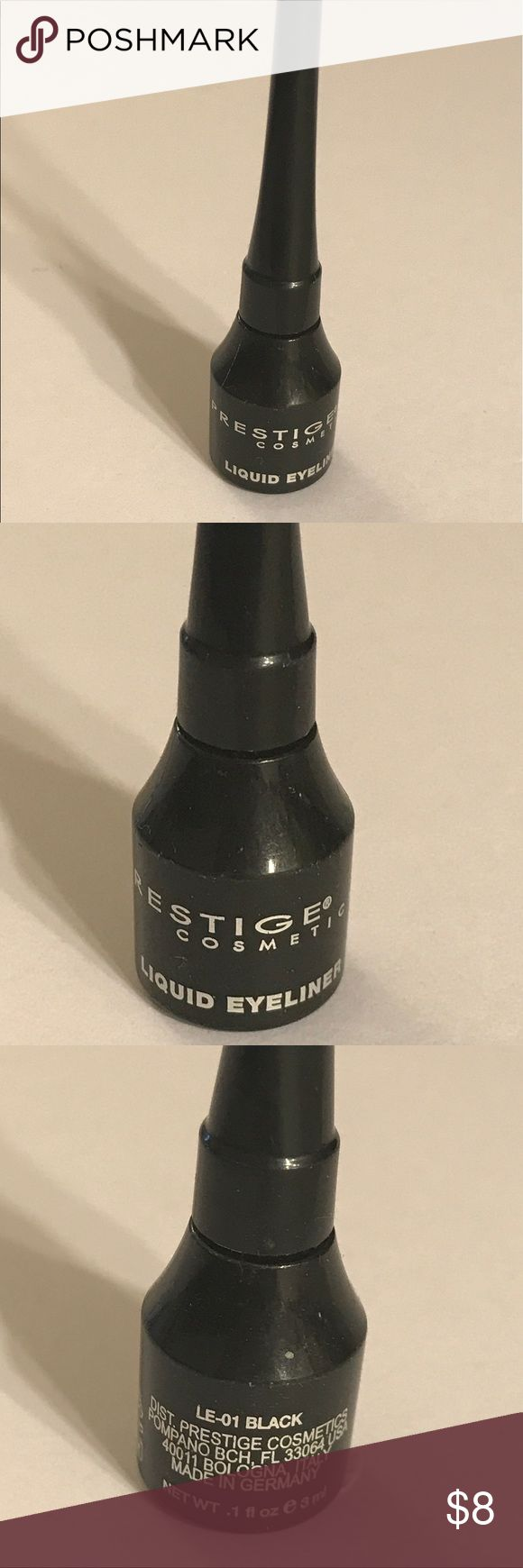 Prestige cosmetics liquid eyeliner Prestige cosmetics liquid eyeliner , color is black. Great item. Thanks for checking out Luxury1cosmetics! Offers are welcomed, bundles are discounted. Used, made in Germany. prestige cosmetics Makeup Eyeliner