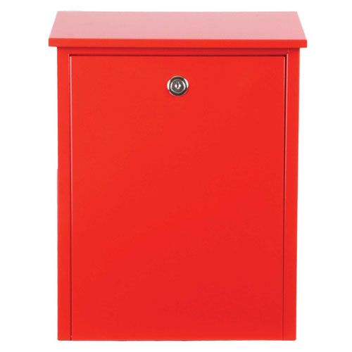Allux Series Red Mailboxes Allux 200 Wall Mounted Mailboxes Outdoor