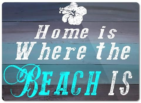Great Home is Where the Beach Is Glass Cutting Board