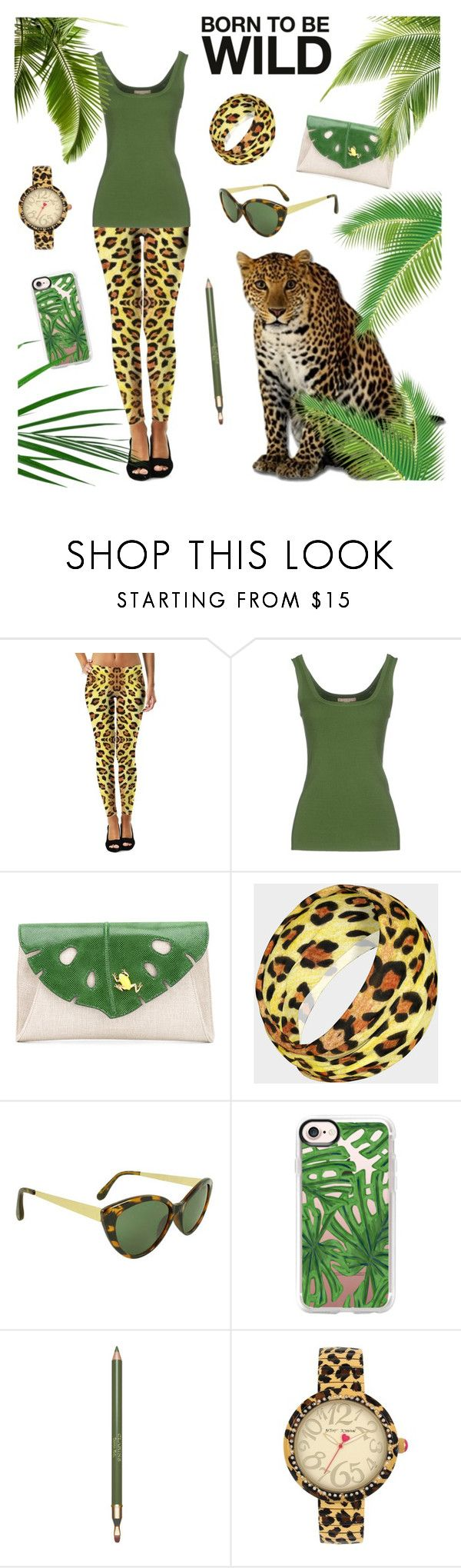 Born to be wild by @savousepate on @polyvore #kaki #green #leopardprint #pantherprint #animalprint