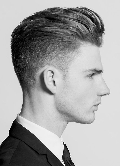 men's hair, short, slick back, long top, fade