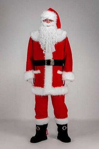 Piękny Mikołaj  z sztucznym futerkiem o długim włosiu.