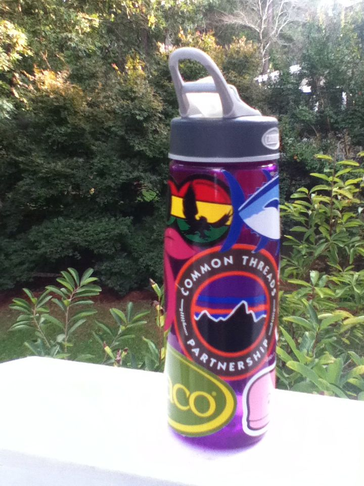 Add stickers to your camelbak or nalgene waterbottle to prep it up