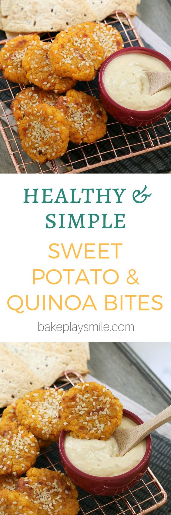 Sweet Potato Quinoa Bites.