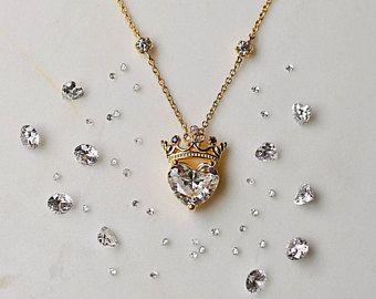 Veado opulento colar antler colar colar de ouro rosa, jóias de ouro rosa, colar de prata, jóias, presente da dama de honra   – ketten