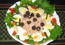 Chinese cabbage and salade nicoise recipe