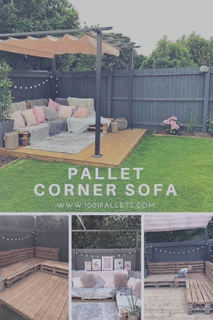 Easy Pallet Corner Sofa 1001 Paletten Wie Ich Aus 9 Euro Paletten Fur Me Antje Mark In 2020 Diy Garden Furniture Pallet Garden Furniture Backyard Patio Designs