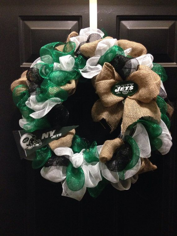 NFL New York NY jets wreath by WreathsbyKrisB on Etsy