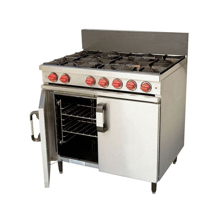 6 Burner Gas Oven An essential item in any kitchen. It offers 6 gas rings which are easy to light by hand and a large oven space. Do remember to order your gas. NB: Specifications may vary with model. It is the responsibility of the hirer to arrange for the installation and connection on-site of any gas appliances to be carried out by a corgi registered engineer.