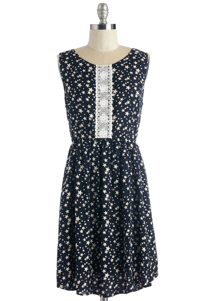 Interstellar the Truth Dress. Friends will be candid with compliments when it comes to how out-of-this-world you look in this star-printed dress! #multi #modcloth