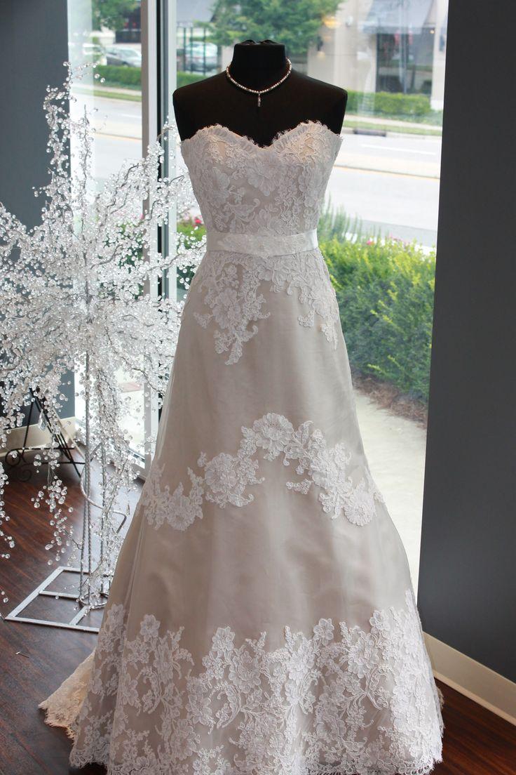 Wedding Dresses Modified A Line : Lace modified a line gown wedding dress dresses