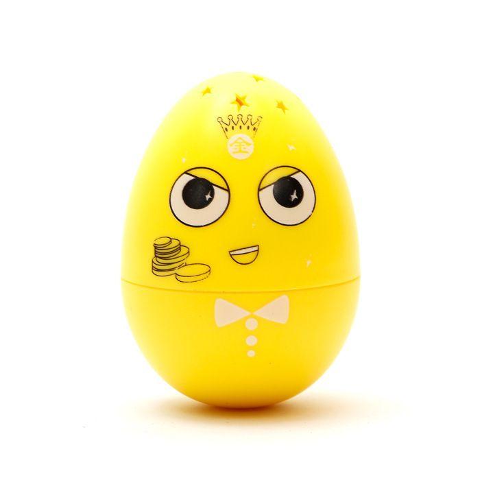 ECUBEE Hilandero de mano amarillo huevo Fidget Gadget Gyro Roly-poli Toy Música Estrella LED