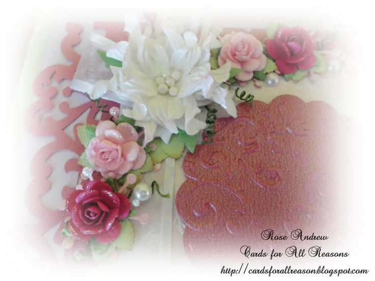 Card corner with flowers