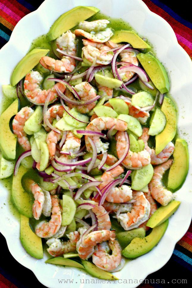 Camarones en Aguachile Verde by www.unamexicanaenusa.com