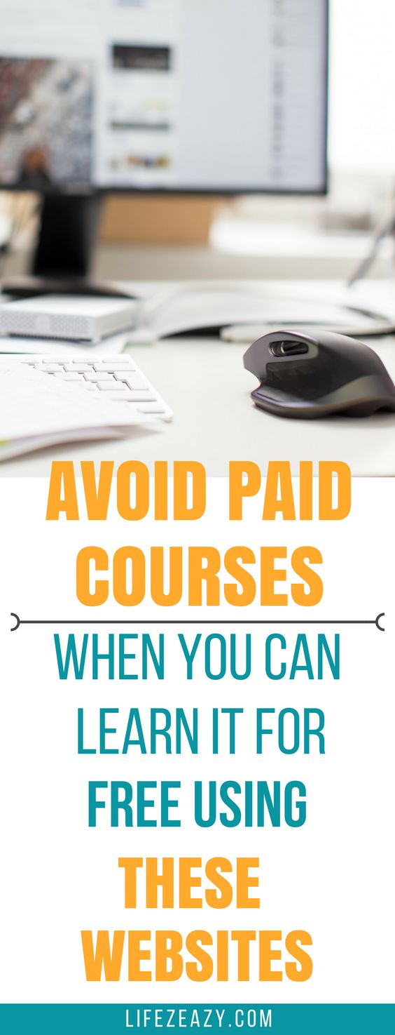 Learn a new skill, language or take a course using these websites for FREE. Don't waste your money on paid courses when you can learn it for free.