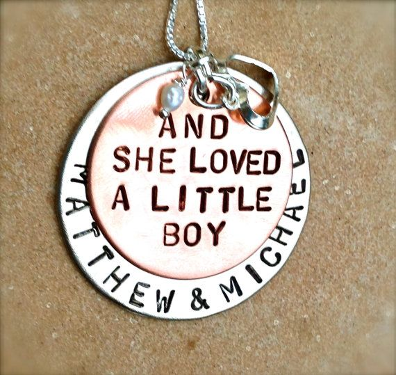 and she loved a little boy personalized necklace door natashaaloha