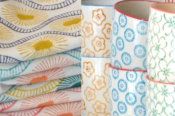 Bungalow teatowels & Bloomingville cups