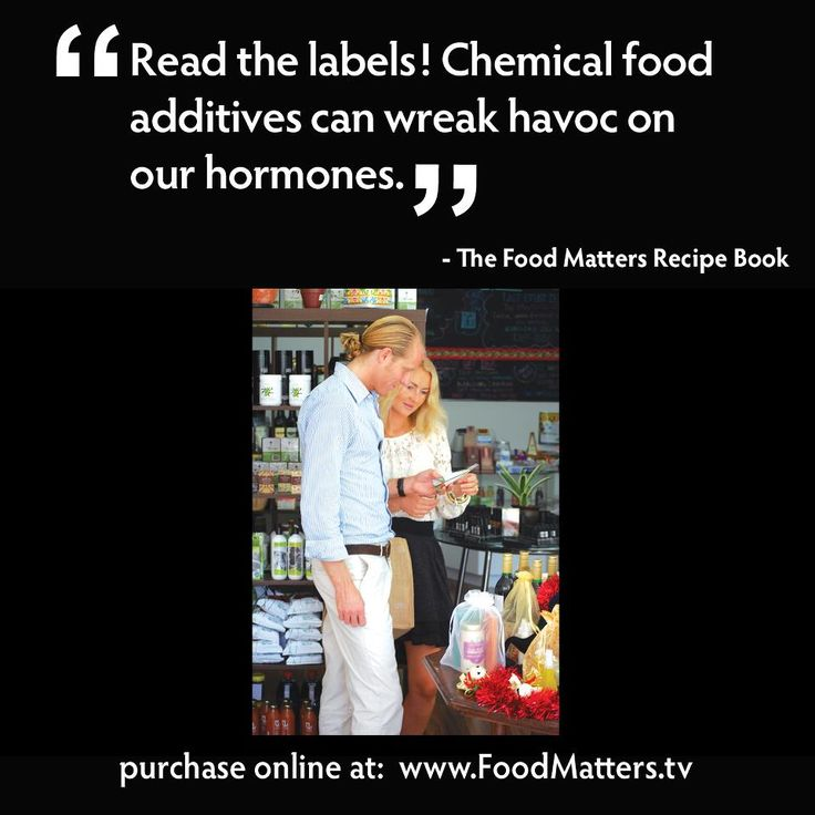 14 best food matters images on pinterest food quotes quotes chemical food additives can wreak havoc on our hormones food matters recipe book forumfinder Images