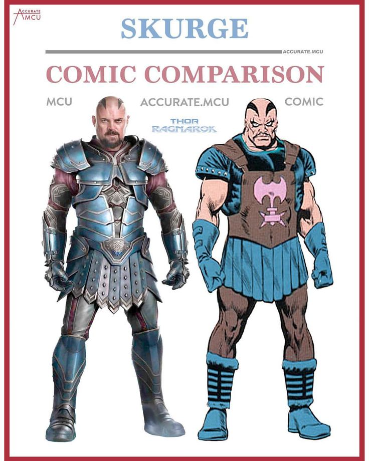 """921 Likes, 7 Comments - • Accurate.MCU • mcu fanpage (@accurate.mcu) on Instagram: """"• SKURGE - COMIC COMPARISON • I can't wait to finally see Skurge in the MCU. I've always loved him…"""""""