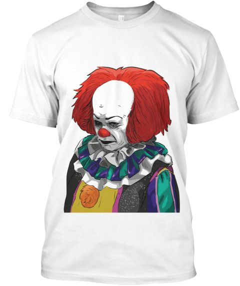 #Halloween #Pennywise The #Clown White T-Shirt Front