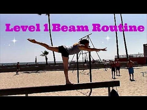 Gymnastics Level 1 Beam Routine With Coach Meggin!