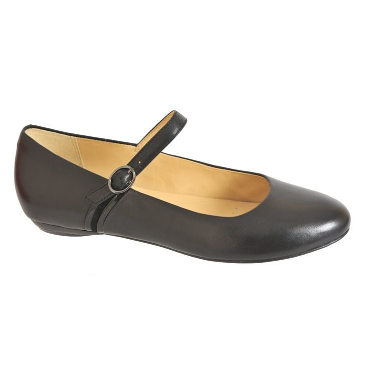 Smart Black Flat Shoes