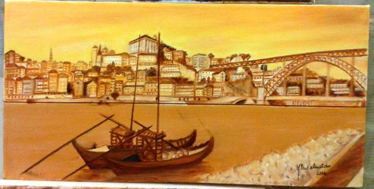 Ribeira, Oporto, Portugal - Oil on canvas FOR SALE!