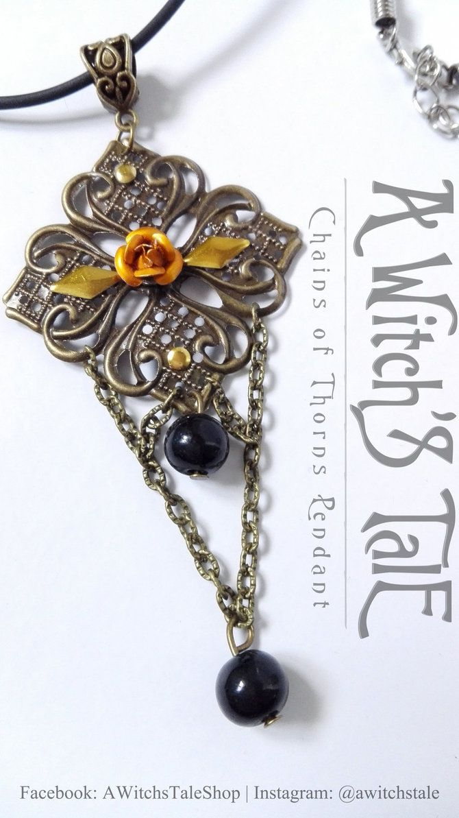 Chains of Thorns Pendant by A Witch's Tale by LaceWingedSaby.deviantart.com on @DeviantArt