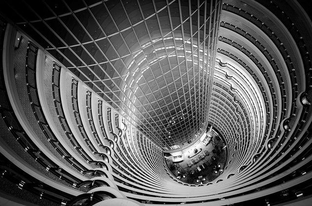 Grand Hyatt atrium in Shanghai