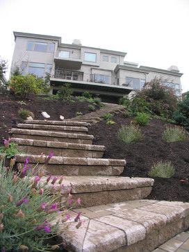 Steep slope hillside landscape contemporary landscape