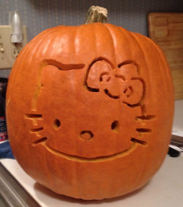 Hello Kitty Pumpkin Carving Tutorial! #halloween