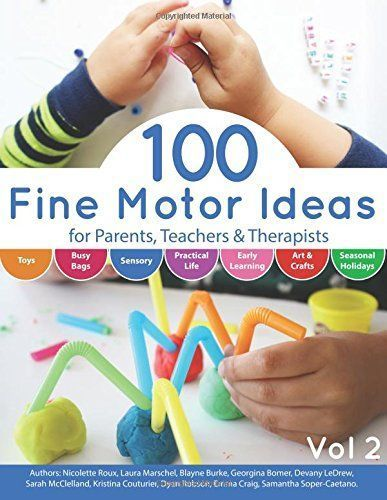 100 Fine Motor Ideas is a wonderful resource for parents, teachers and therapists seeking fun activities for kids to engage them in fine motor skills.