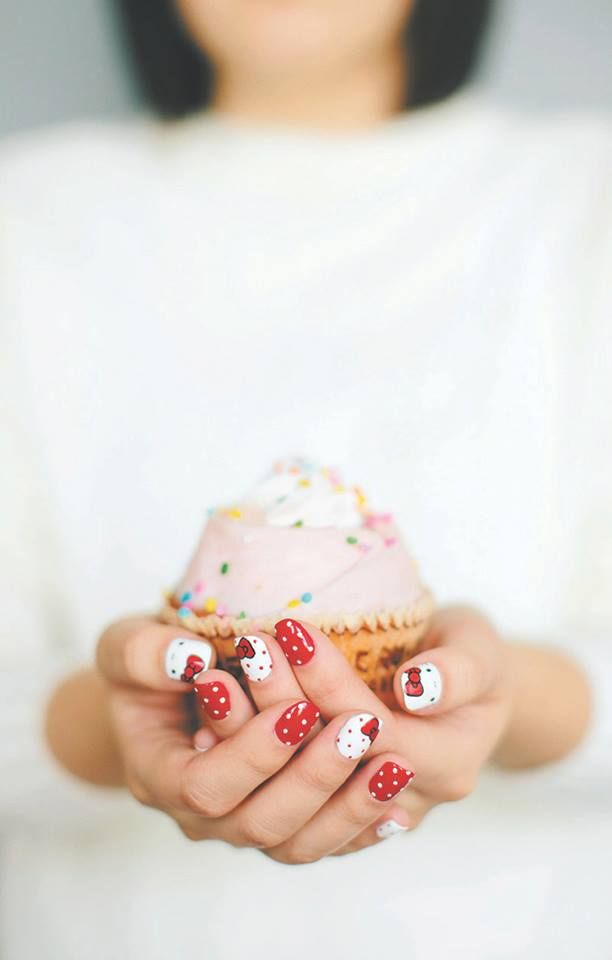 """Do your own supercute Sanrio nail art with """"Hello Kitty Nail Art"""" -- available now on Sanrio.com, AbramsBooks.com, and at select bookstores near you!"""