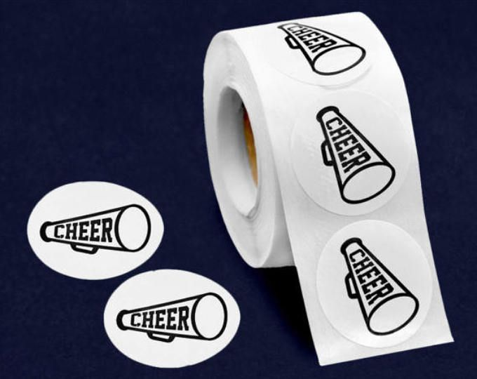 500 Cheerleading Megaphone Stickers (500 Stickers) (ST-02-SPCH)