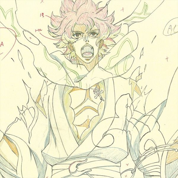 Dessin illustration crayons de couleurs Bakumatsu Rock Studio Deen...