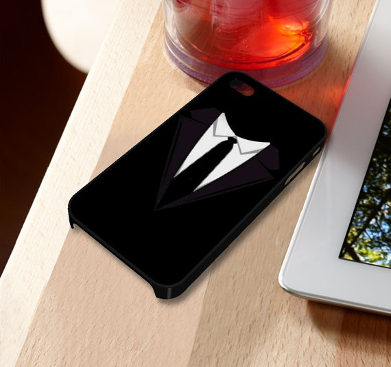 Black Suit For Men iPhone 5 iPhone 4 / 4S Plastic Hard Case Soft Rubber Case on Etsy, $14.79
