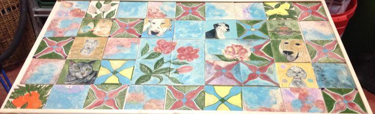 Tiles are glazed!