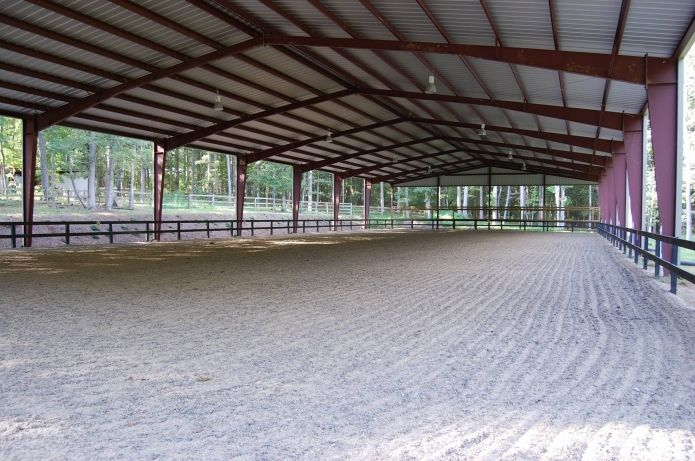 Metal Building Covered Riding Arena The Large Spans Give