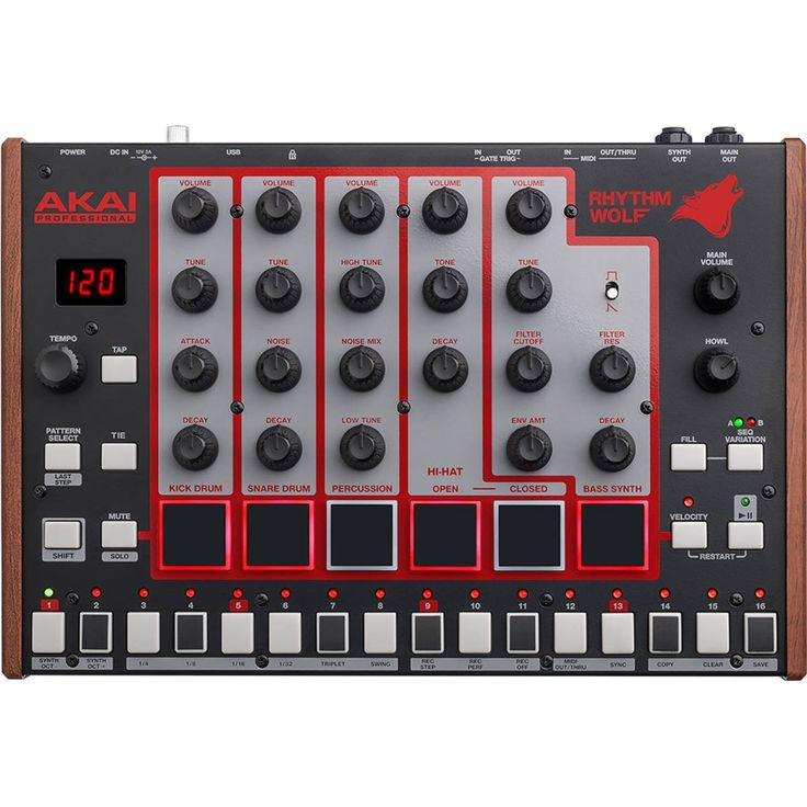 Akai Rhythm Wolf Drum and Bass Synthesiser