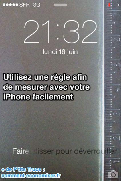 transformer iphone en règle à mesurer