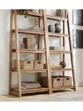 Strut Teak Bookcase + Reviews | Crate and Barrel