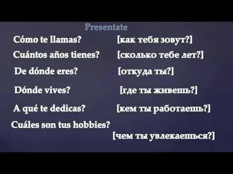 Presentate Как представиться на испанском - YouTube