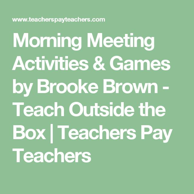 morning meeting activity Benefits of a morning meeting/cpr a great way to incorporate social emotional learning adds predictability and routine to the daily schedule sets the tone for a day of learning and respect.